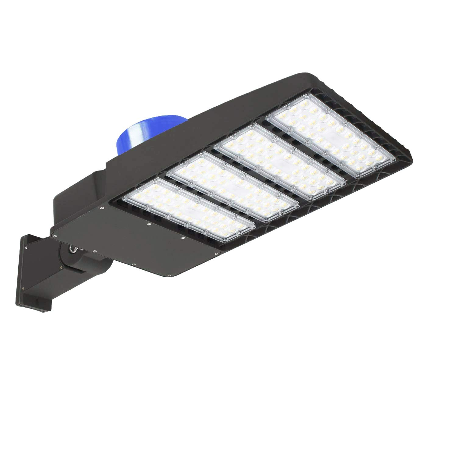 LED Parking Lot Lights 300W - 39000LM Super Efficiency 5000K LED Street Lights Shoebox Pole Lights with Photocell, Replaces 1000W Halide Waterproof Outdoor Commercial Area Road Lighting(Arm Mount)