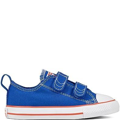Converse Chuck Taylor CTAS Hi Canvas, Chaussures de Fitness Mixte Enfant, Bleu (Hyper Royal/Bright Poppy/White 483), 23 EU