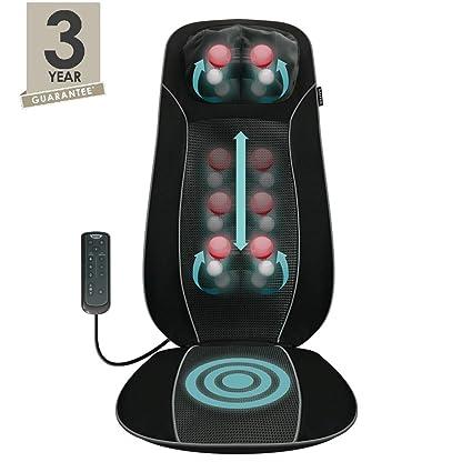 Salter - Sesión de masaje Shiatsu, espalda y cuello 3 zonas de masaje de espalda seleccionables: total, superior o inferior Opción de calor Control ...