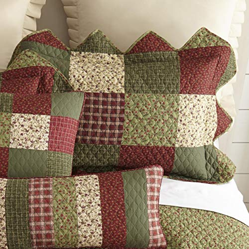 Quilt Patch Garden - Donna Sharp Garden Patch Cotton Patchwork Quilt Collection (Standard Sham 20W x 26L)