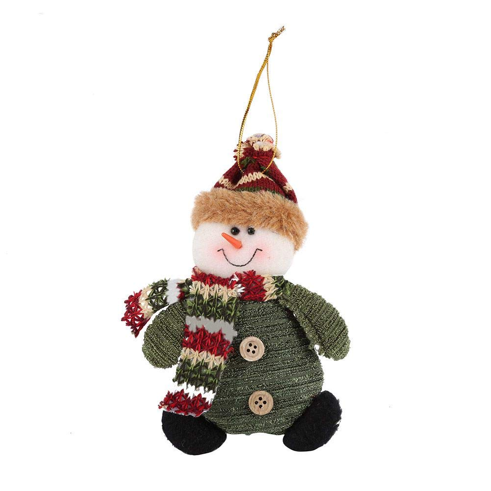 Fedi Apparel Santa Claus Snow Man Reindeer Doll Christmas Decoration Ornaments Pendant