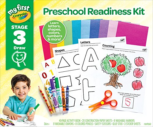 My First Crayola Preschool Workbook and Toddler Art Supplies, Letters and Numbers, Preschool Learning Toys]()