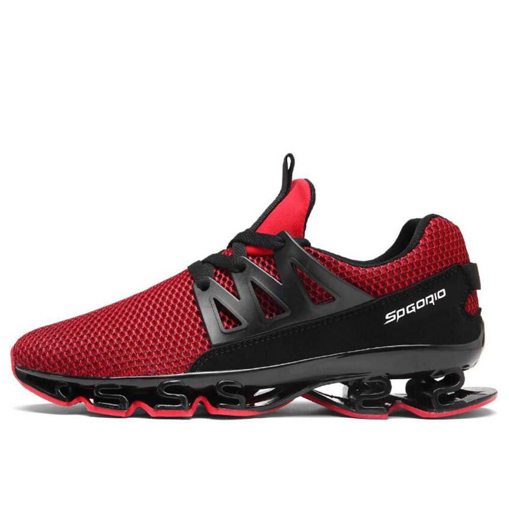 MYI Zapatos de los Hombres de Microfibra Sintética de Tul de Primavera Verano Confort Zapatos Deportivos Zapatos Para Caminar Zapatos de Senderismo Zapatos Para Correr 41 EU|Rojo