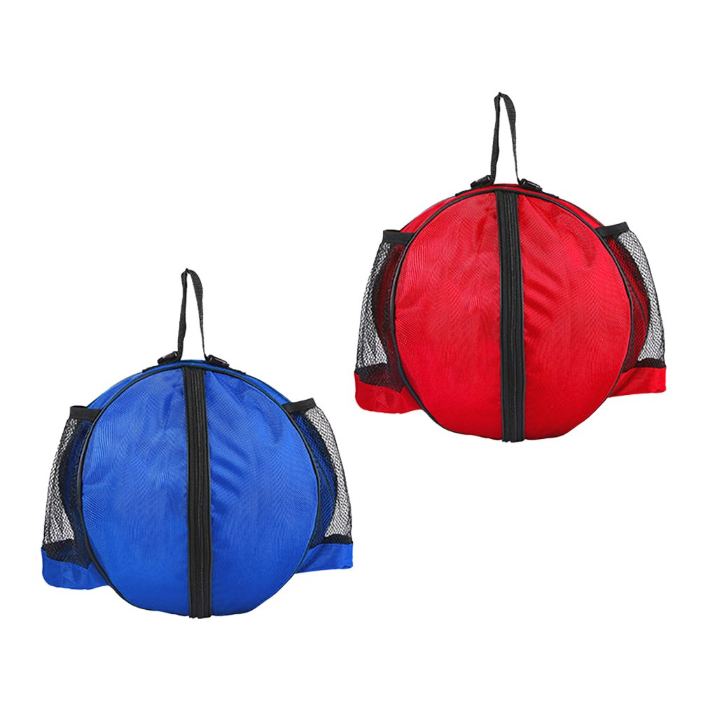 Baoblaze 2pcs Waterproof Basketball/Soccer/Volleyball Carry Bag + Adjustable Strap