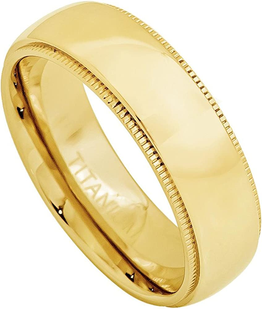 Jewels By Lux Tungsten Silver-Tone Comfort-fit 7mm Wedding Band Ring with Gold-Tone Stripe Center