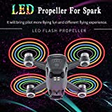 Fdrone 2Pairs Spark LED Flash Propellers Blades Props Rechargeable for DJI Spark Drone Black
