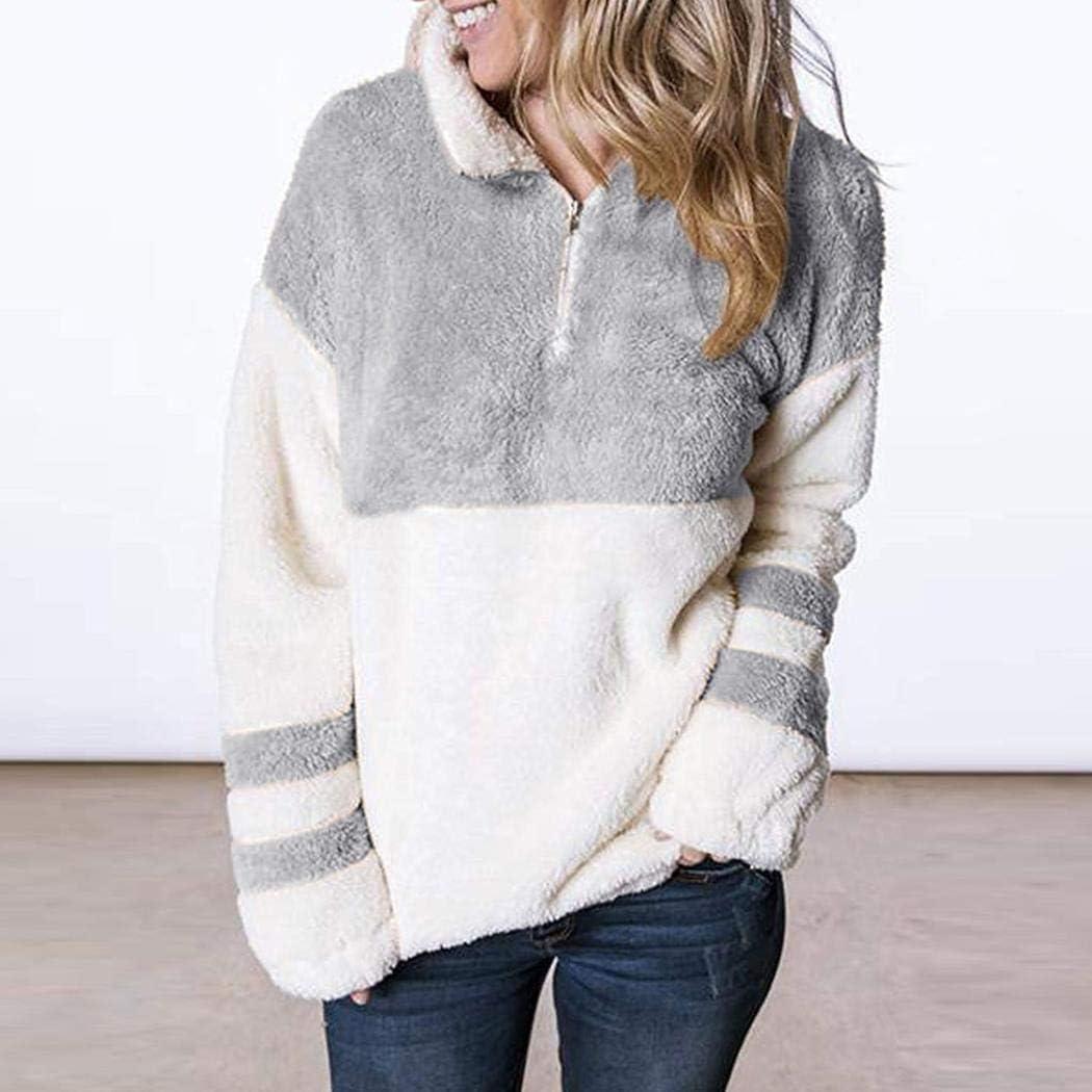 GoodKE Women Casual Top Turtleneck Long Sleeve Patchwork Pollover Sweatshirts Fashion Sweatshirts
