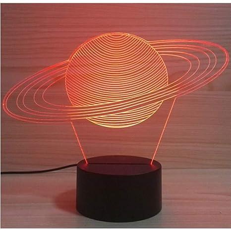 Zfkdsd Creative 3D Sistema Solar Usb Mordel Lámpara De Mesa ...