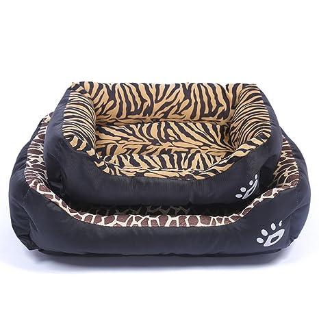 LA VIE Cama Cálida para Mascotas Sofá Cama Nido Suave y Acogedor para Gatos Perros Pet Dog Bed M en Tigre