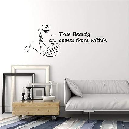 Amazoncom Paecui Motivational Wall Sticker Quotes Beauty Salon