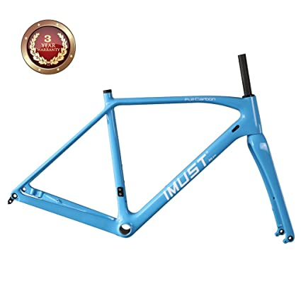 Amazon.com : IMUST Carbon Cyclocross Bike Disc Brake Frameset BB86 ...