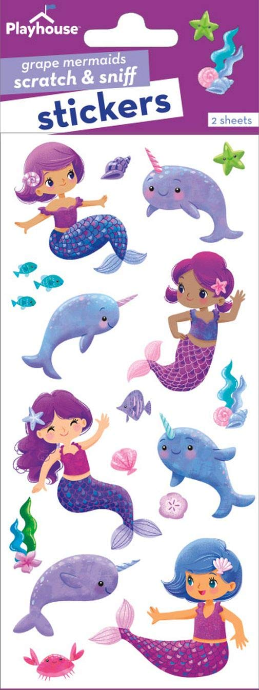 Playhouse Narwhal Party Micro Mini Sticker Sheet Paper House