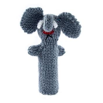 Fingerpuppe Krokodil Kasperltheater Spielzeug zum Spielen und Lernen handgestrickt aus weicher Wolle f/ür Baby und Kinder