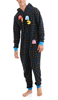 Pacman Gamer Adult Novelty Hooded Onesie Pajama with Detachable Pieces 45f12d6fd