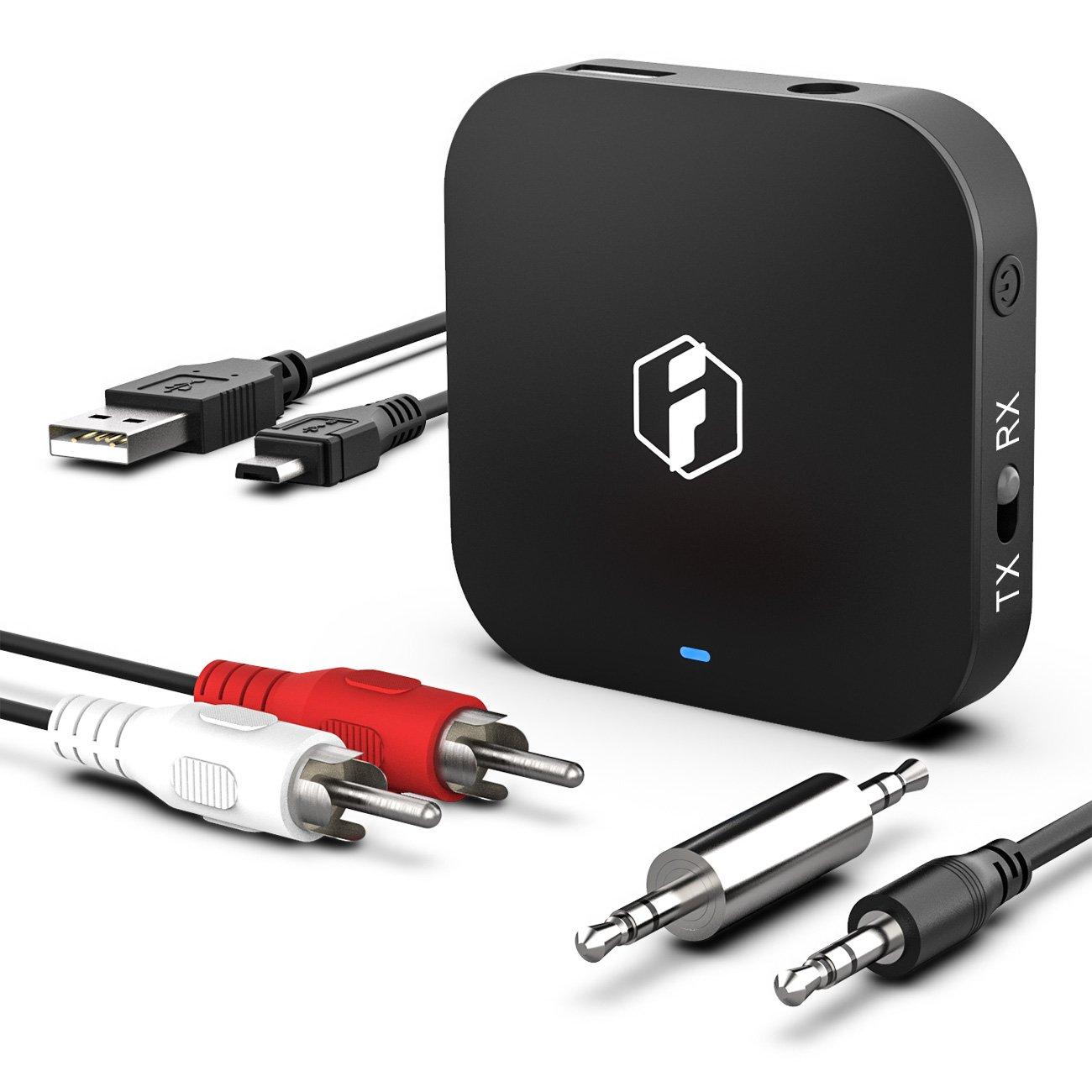 Inateck Transmetteur//R/écepteur Bluetooth 2 en 1 /Écouteurs BR1008 Enceinte et Syst/ème Audio de la Voiture aptX Low Latency Adaptateur Audio Hi-FI 3,5mm pour TV aptX HD