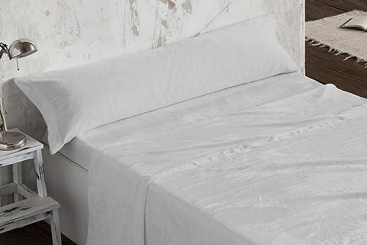 Burrito Blanco - Juego de sábanas Coralina 953 Gris para Cama de ...