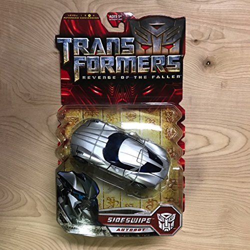 Transformers Movie Series 2 Deluxe Class 6 Inch Tall Robot Action Figure - Autobot SIDESWIPE with Deployable Blades and Shifting Battle Armor (Vehicle Mode : Corvette Stingray Concept Mode)