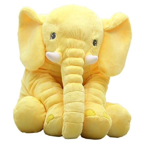 sdtdia Almohada de Elefante, Animales de Peluche, Almohadas de Felpa para bebés Que Duermen Juguetes de Peluche (Amarillo, 60CM): Amazon.es: Hogar