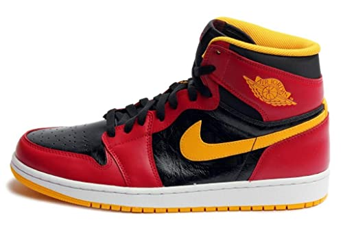 011fd638740 Nike Jordan Mens 1 Retro High Og Black University Gold Gym Red 555088-