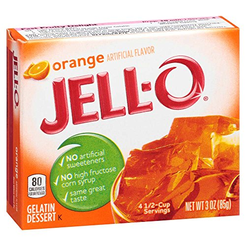 JELL-O Orange Gelatin Dessert Mix (3 oz Box)