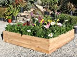 Raised Bed Garden Kit Cedar - FREE SHIPPING 4ft x 4ft x 10 inches deep . 100% Made In USA.
