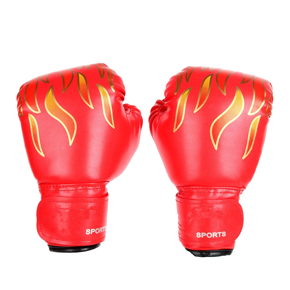 Smartcoco Children Flame Mesh Palm Boxing Gloves Professional Sanda Boxing Training