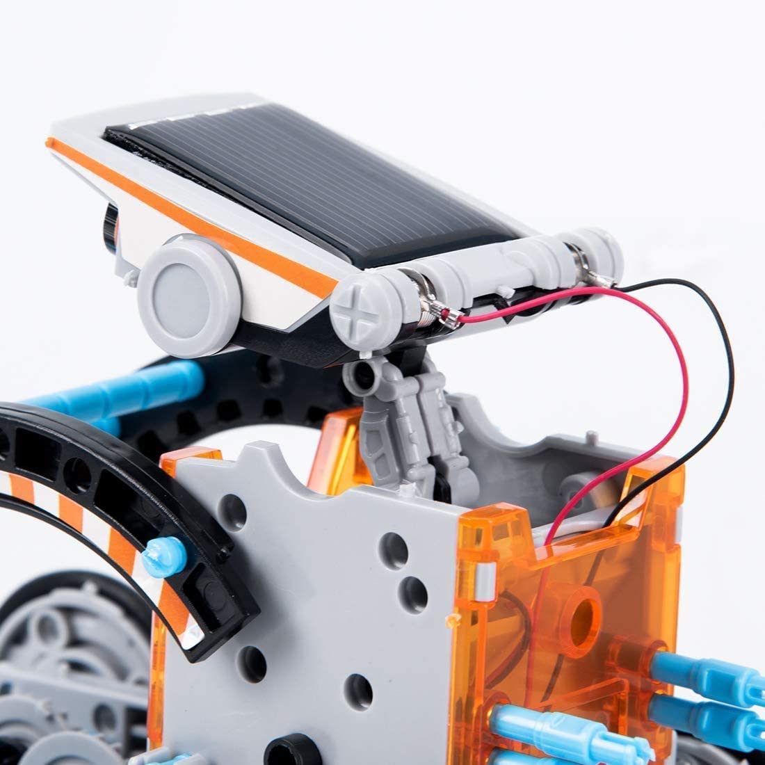 GeemakerStar STEM Educational Toys Science Kit Solar Robot DIY 12-in-1 Building Experiment for Kids Aged 8-10-12 and Older,190 Pieces Solar Powered by The Sun