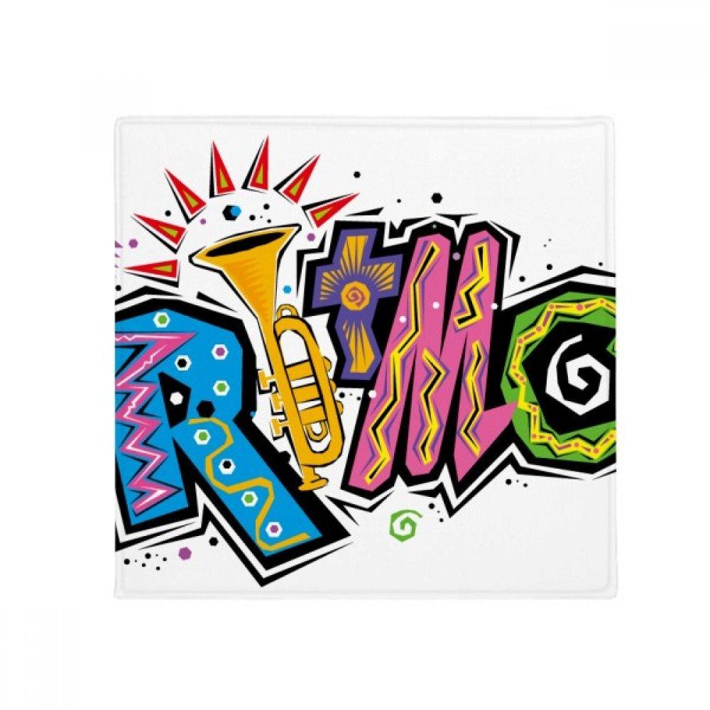 DIYthinker Mexico Culture Elment Many colors Ritmo Slogan Anti-Slip Floor Pet Mat Square Home Kitchen Door 80Cm Gift