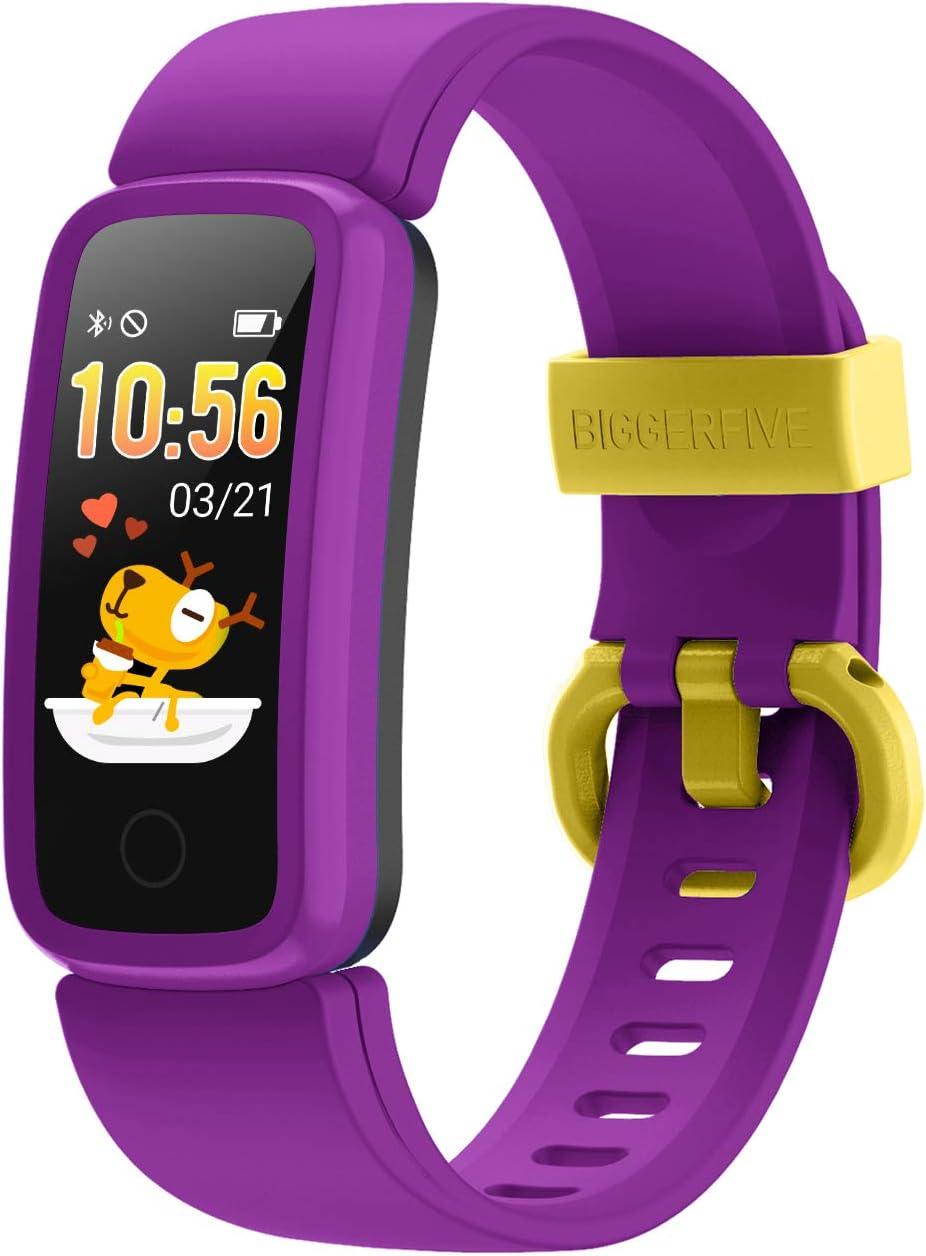 BIGGERFIVE Vigor Pulsera Actividad Inteligente Reloj Inteligente para Niños Niñas Mujer, Impermeable IP68 Deportivo Smartwatch con Podómetro Pulsómetros Monitor de Sueño Contador de Caloría