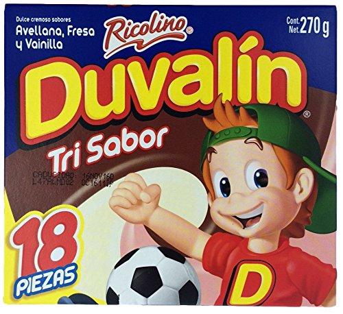 Duvalin Trisabor Hazelnut, Strawberry, Vanilla (18 pcs) ()