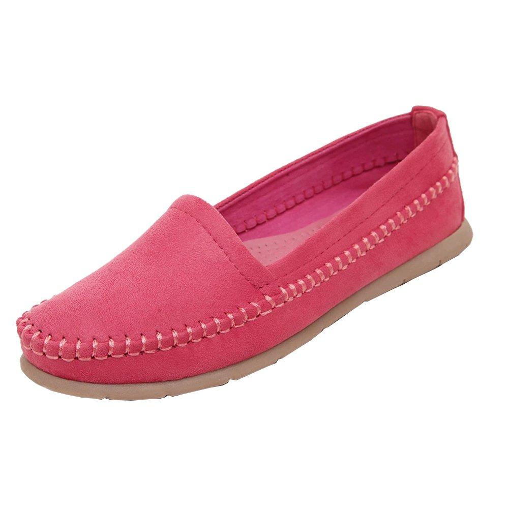 Loisirs Confort Chaussures Chaussures Plates Loafers Plates en Cuir Rouge Bateau Chaussures de Conduite Rouge c37adff - boatplans.space