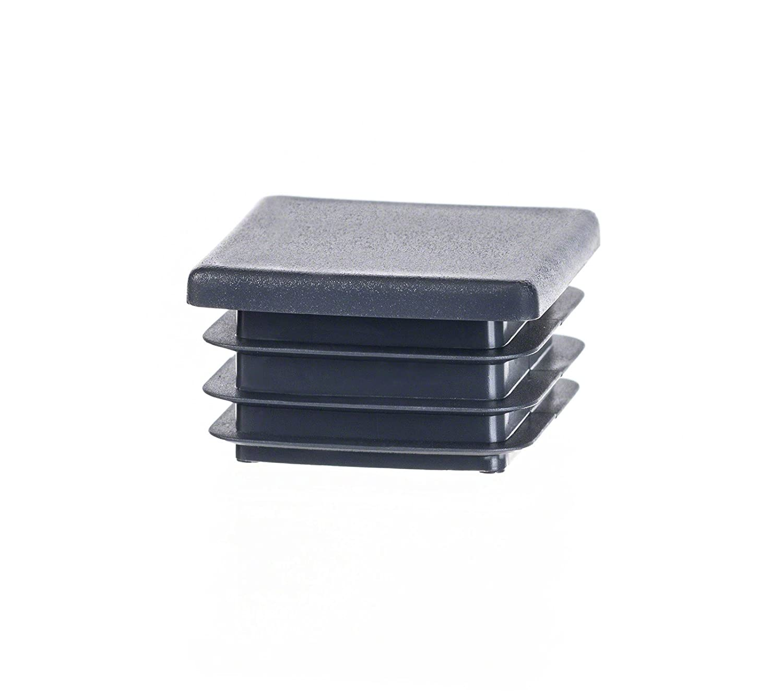 5 Stck Quadratstopfen 45x45 Wei/ß Kunststoff Lamellenstopfen Abdeckkappe