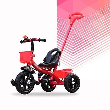 Brilliant firm Carritos con capazo Triciclos para Niños Vehículos para Niños Bicicletas para Bebés 1-5 Bicicletas para Niños Cochecitos para Bebés (Color ...