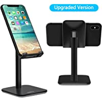 Nulaxy Adjustable Phone Stand Compatible with iPhone Xs Xr 8 X 7 6 6s Plus SE 5 5s 5c, All Smartphones (Black)