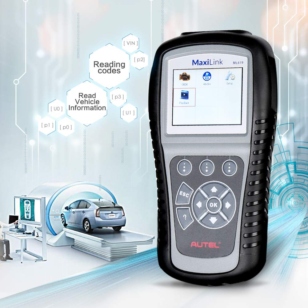 Autel MaxiLink ML619 CAN OBD2 Scanner Code Reader +ABS/SRS Diagnostic Scan Tool, Turns off Engine Light (MIL) and ABS/SRS Warning Lights by Autel (Image #4)