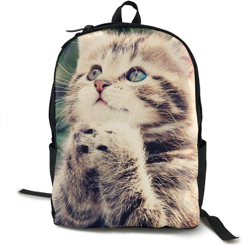 Malsjk8 可愛い子猫 かわいい猫 旅行 ハイスクール バックパック 軽量 カレッジ ガールズ レディース   B07GF9R447
