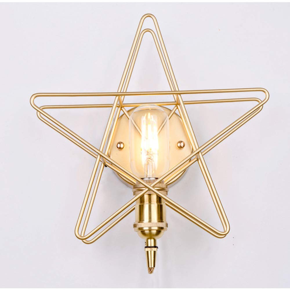 Wandleuchte,Wandfluter,Goldene Schlafzimmer-Nachttischlampe Restaurantbalkon Led Beleuchtet Kreative Nordische Wandlampen