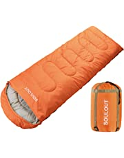 SOULOUT Sleeping Bag 3-4 Season Warm Weather and Winter, Lightweight, Waterproof – Great for Adults & Kids - Excellent Camping Gear Equipment, Traveling, and Outdoor Activities