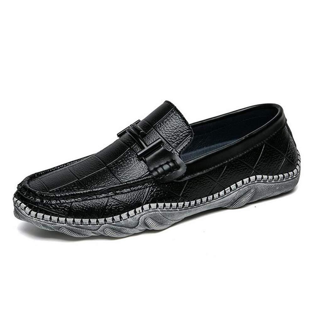 Y-H Herren Schuhe, Frühlingsschuhe & Schlupfschuhe, Erbsen-Schuhe, Trekking-Reise-Schuhe, Wandern, Fitness-Schuhe, Schwarz, 43