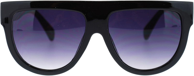 Flat Top Oversized Sunglasses Retro Modern Trendy Fashion