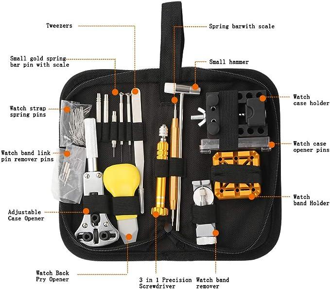 Uhrenwerkzeug Uhrmacherwerkzeug Set Uhr Werkzeug Tasche Reparatur 148-tlg