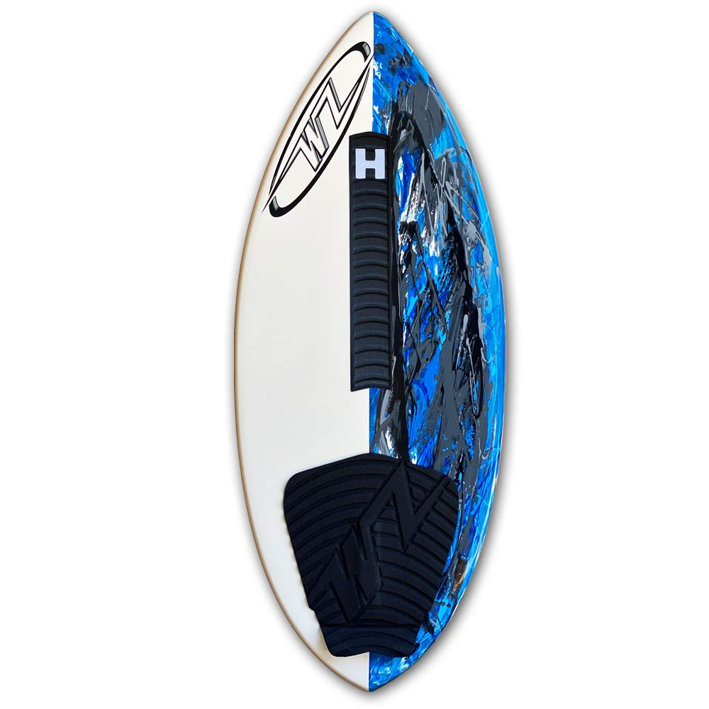 Complete with Traction Deck Grip 48 Blue Wave Zone SE Carbon /& Fiberglass Skimboard for Riders Up to 200 lbs