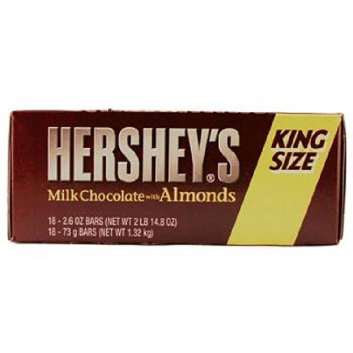 Product Of Hersheys, King Size Milk Chocolate With Almonds, Count 18 (2.6 oz) - Chocolate Candy / Grab Varieties & Flavors