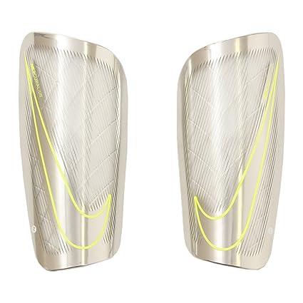 separation shoes 86a33 6e116 Nike Adult Mercurial Lite Soccer Shin Guards (White Chrome Volt, Small)