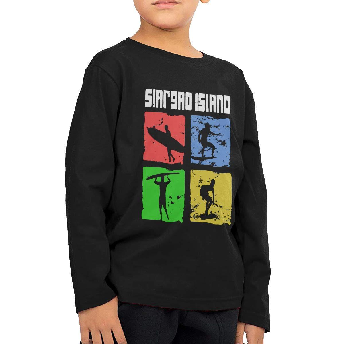 CERTONGCXTS Baby Girls Little Boys Siargao Island Surfer ComfortSoft Long Sleeve T-Shirt