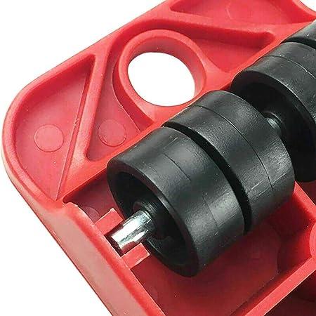 Maya Star Carga m/áxima 250 kg 03 Juego de 5 rodillos para mover muebles herramientas profesionales para levantar muebles y levantar muebles