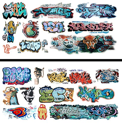 Scale Water Slide Decals - HO Scale Graffiti Waterslide Decals 2-Pack #16 - Weather Your Box Cars, Hoppers, & Gondolas!