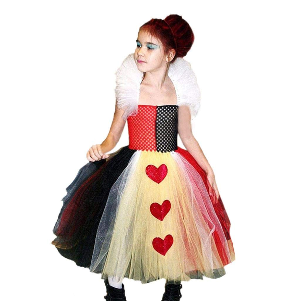 Memela Baby Clothes Toddler Kids Baby Girls Infant Halloween Heart Tutu Dress Party Print Clothes