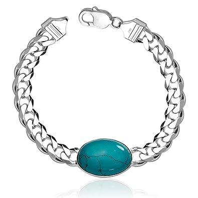 41f923a54b2a5 Taraash 925 Sterling Silver Chain Bracelet For Men Silver ...