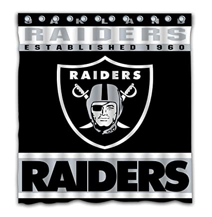 Image Unavailable Not Available For Color Potteroy Oakland Raiders Team Design Shower Curtain